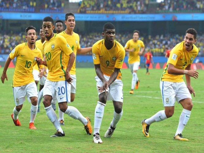 Brazil lay down marker