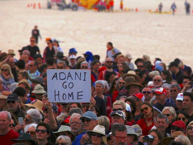 Thousands protest across Aus against Adani's coal mine project