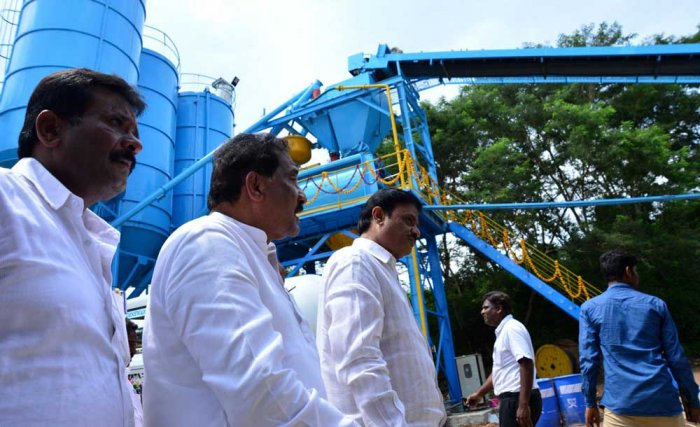 Work on white topping of roads launched