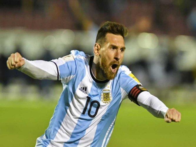 Messi hat-trick fires Argentina