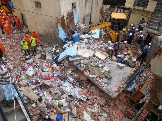 7 buried alive as building collapses in Ejipura