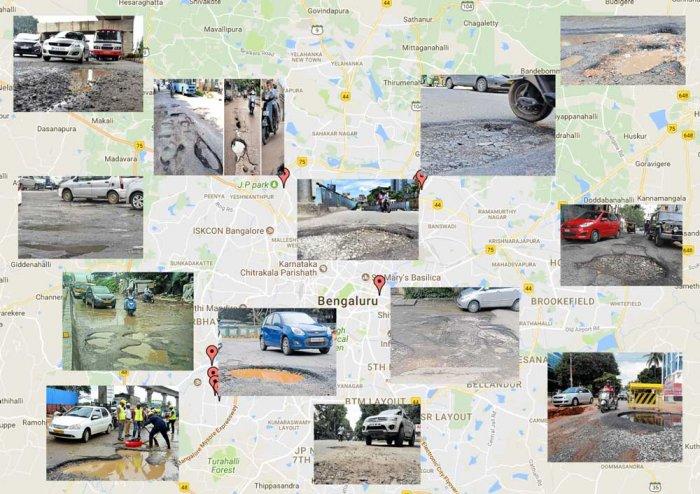 Pin potholes on Bengaluru map