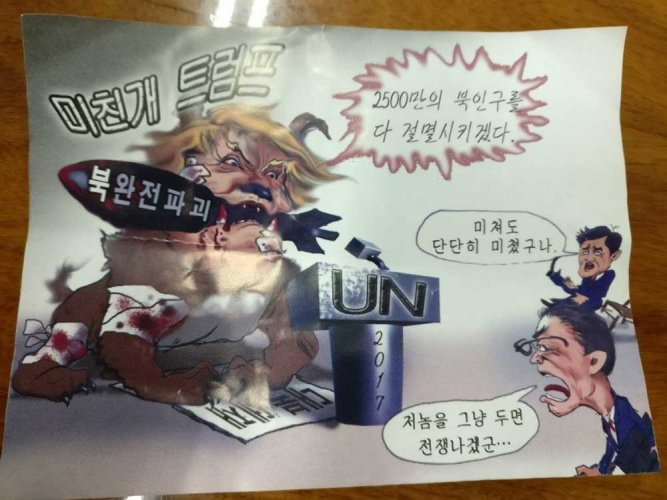 'Mad dog' anti-Trump leaflets, allgedly from North Korea, turn up in Seoul