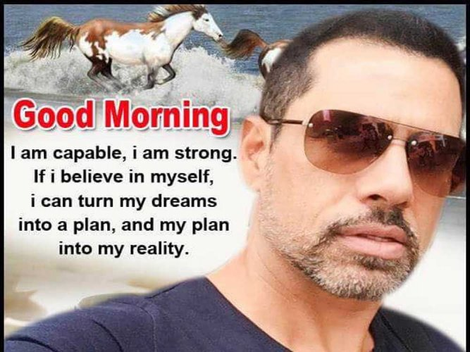 Vadra puts out philosophical message