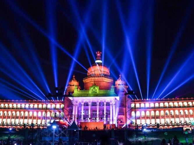 Soudha decked up for diamond jubilee today