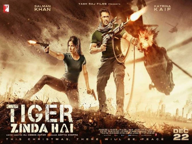 Salman unveils poster of 'Tiger Zinda Hai' on Twitter