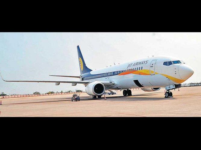Jet Airways flight to Amsterdam takes off