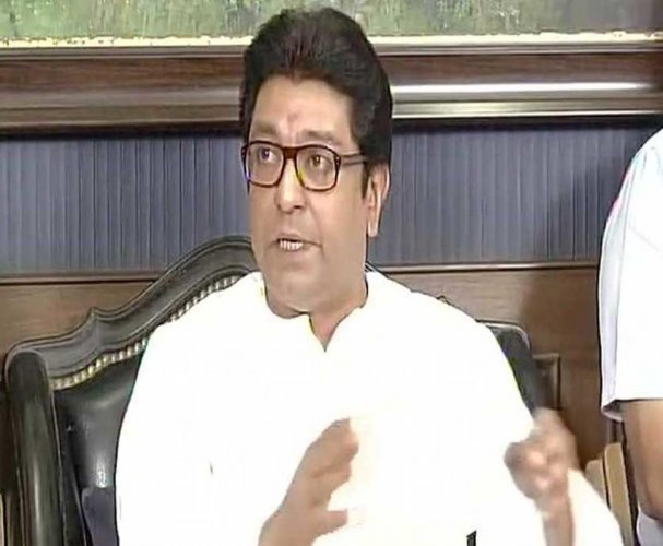 Raj Thackeray throws a punch, with a punch line