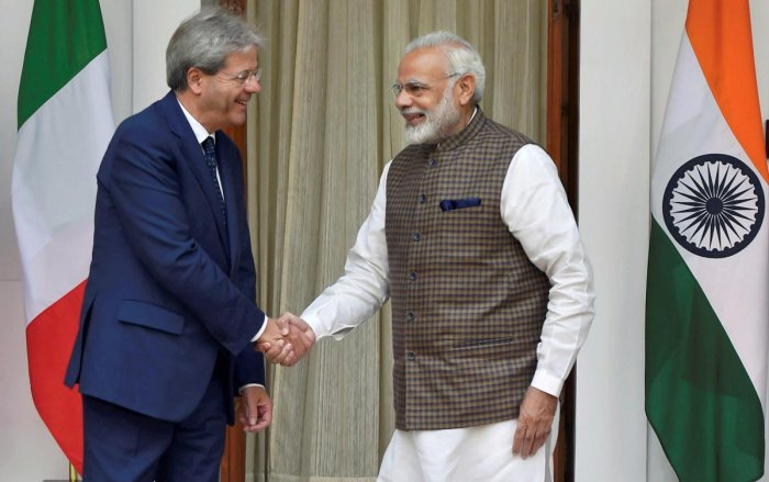 Modi holds talks with Italian PM; six pacts inked