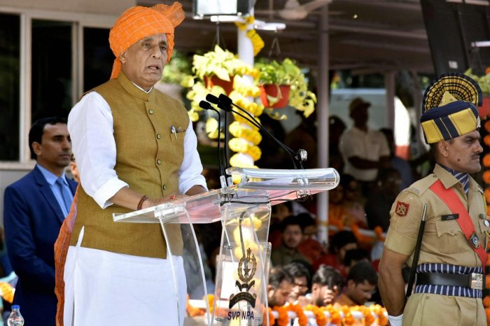 Rajnath attributes IS failure in India to communal harmony