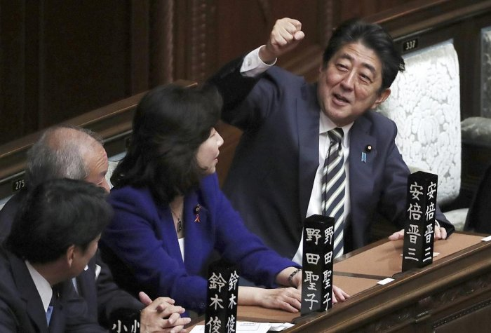 Shinzo Abe re-elected Japan's PM
