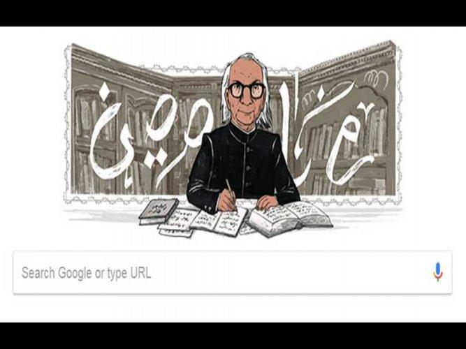 Google honours Urdu writer Desnavi with special doodle