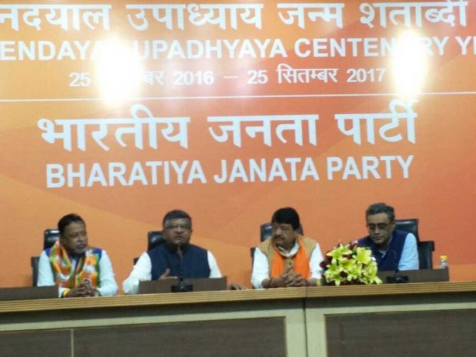 Mukul Roy joins BJP
