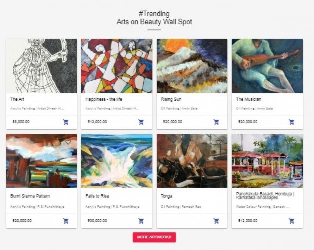 Exclusive online platform for marketing artworks
