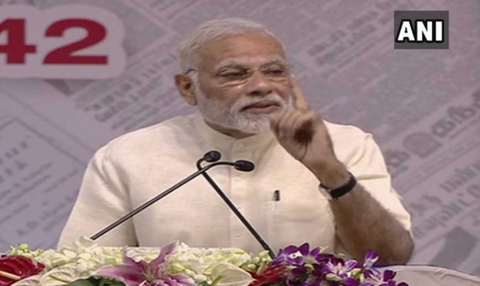 Modi tells media to use editorial freedom wisely