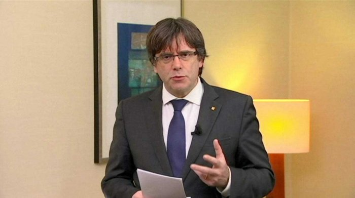 Sacked Catalan leader Carles Puigdemont freed on bail in Belgium