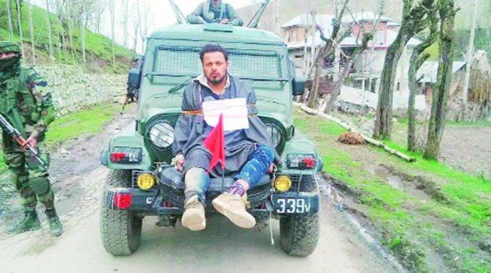 JK govt refuses Rs 10 lakh compensation to 'human shield' Dar
