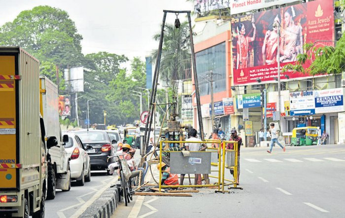 Plans to move pipeline could worsen traffic scene near Shivananda Circle