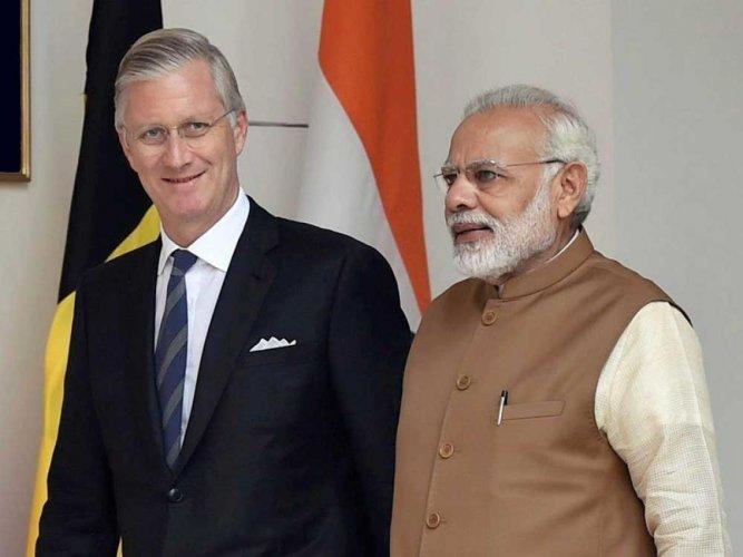 Modi, Belgian king hold talks on strengthening ties