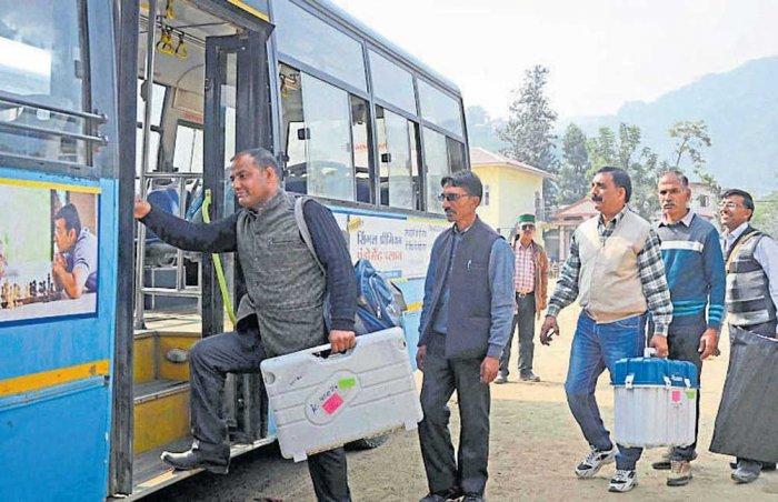 On poll duty, staffers turn mountaineers, trekkers
