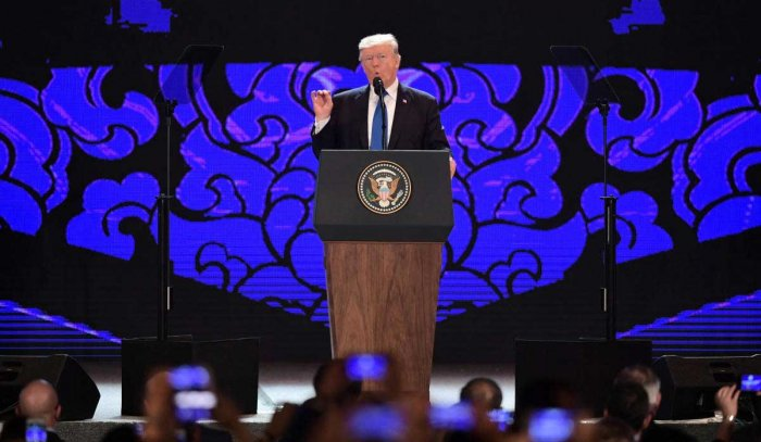 Asia held hostage by North Korea's 'twisted fantasies': Trump