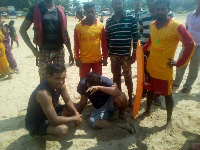 Lifeguards rescue 2 from drowning in Gokarna beach