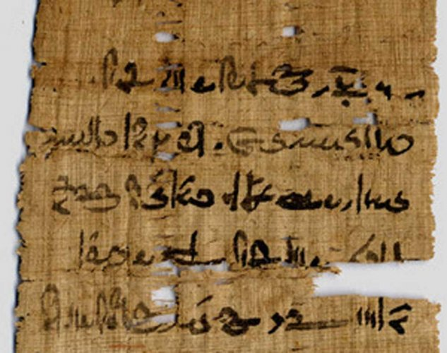 Copper found in ink from ancient Egyptian manuscripts