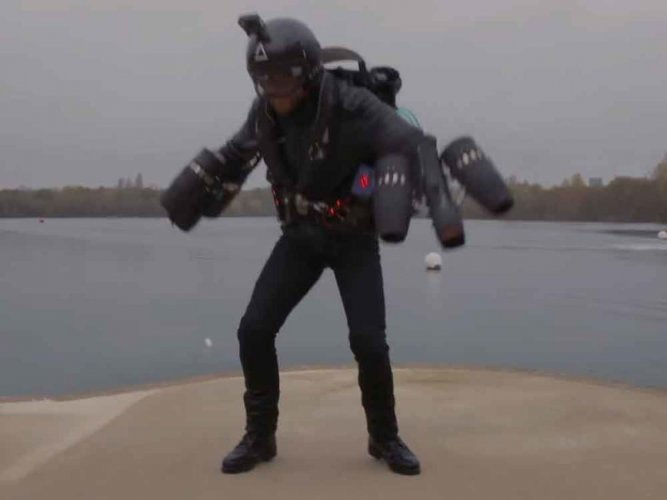 Watch: World's fastest body-powered jet pack sets Guinness record