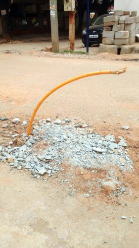 GAIL fails to restore roads properly after digging them to lay pipelines