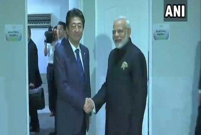 Modi, Abe discuss ways to strengthen strategic cooperation