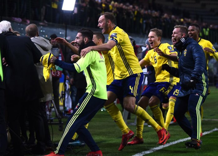 Swedish joy erupts as World Cup spot secured in Italy