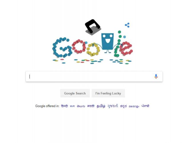 Google Doodle pays tribute to hole puncher on 131st anniversary