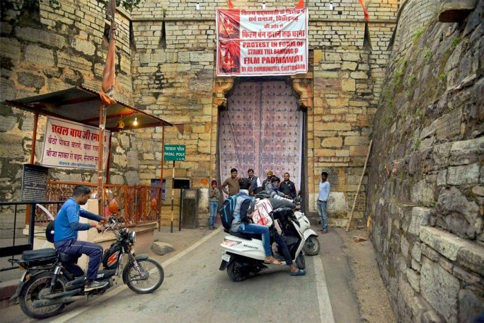 Padmavati protesters block tourist entry to Chittorgarh Fort