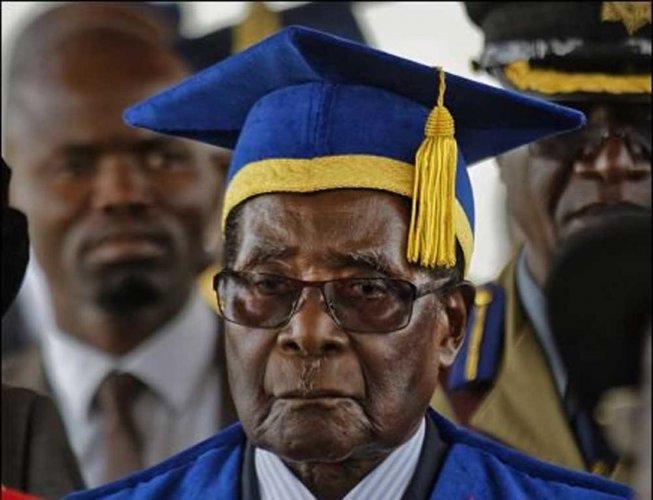Zimbabwe's Mugabe makes first public appearance