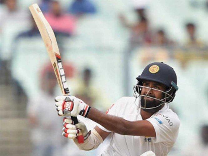 Sri Lanka batsmen gain upper hand against India in rain-hit Test