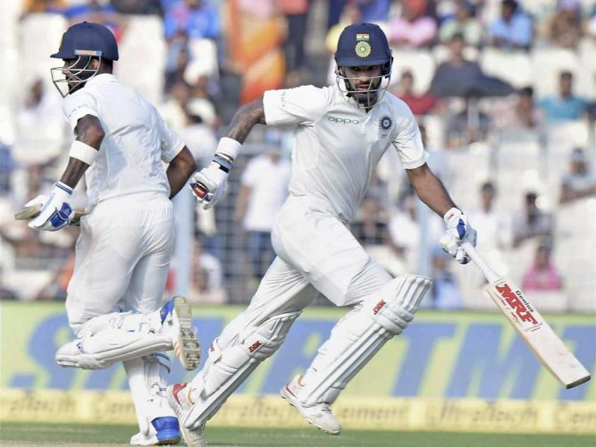 India reach 171/1 at stumps on day 4