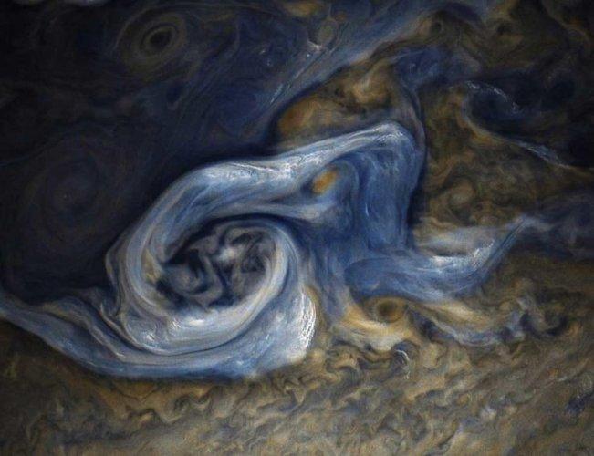 NASA's Juno probe spots massive, raging storm on Jupiter