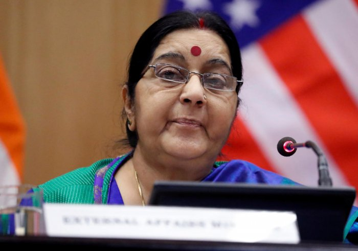 Sushma asks Indian mission in Pak to grant visa to ailing woman