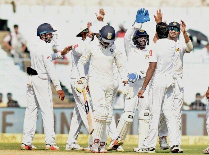 Sri Lanka were 8/2 at tea on day 5