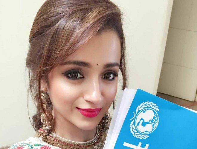 Actor Trisha gets UNICEF celebrity advocate status