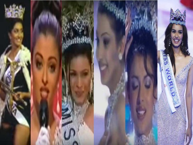The winning moments of India's Miss Worlds