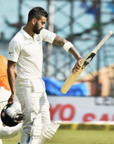 Rahul dissappointed at missing out on hundred
