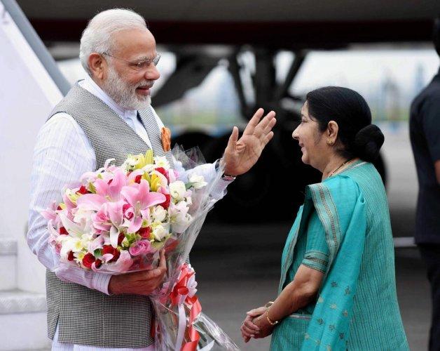 PM credits Swaraj for re-election of India's Bhandari to ICJ