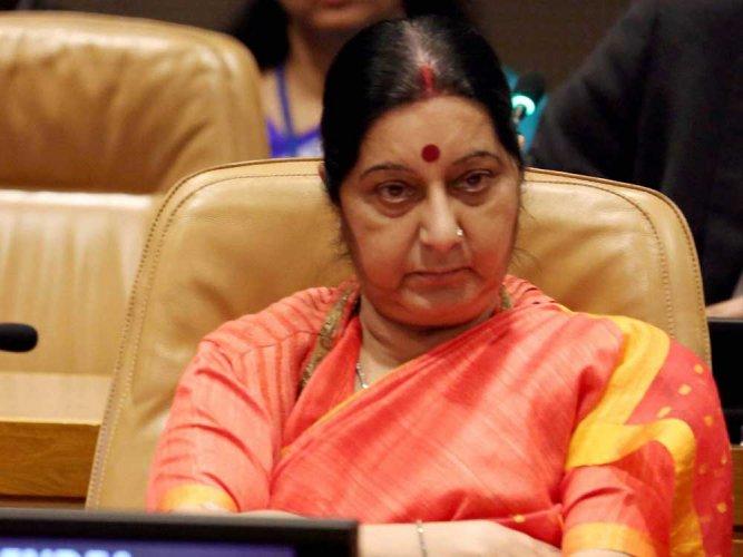 Swaraj congratulates Bhandari on re-election to ICJ