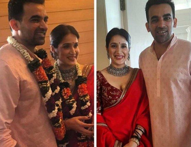 Zaheer Khan ties knot with Sagarika Ghatge