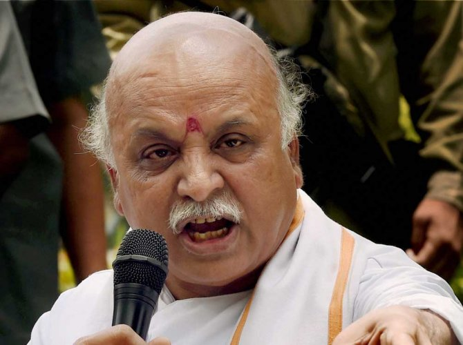 Togadia calls for freeing Hindu temples from state control
