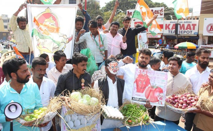 Where is 'Achhe Din', Youth Cong asks