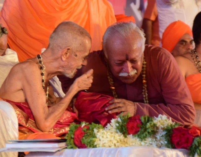 Ram Mandir will be built in Ayodhya by next year: Pejawar seer