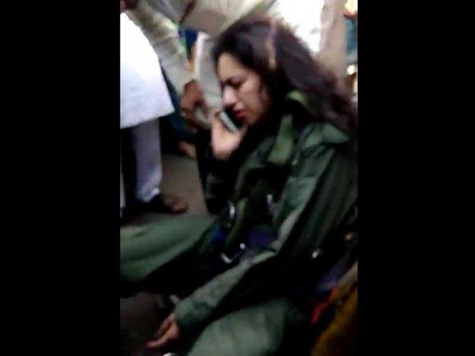 Kiran copter crashes, cadet bails out