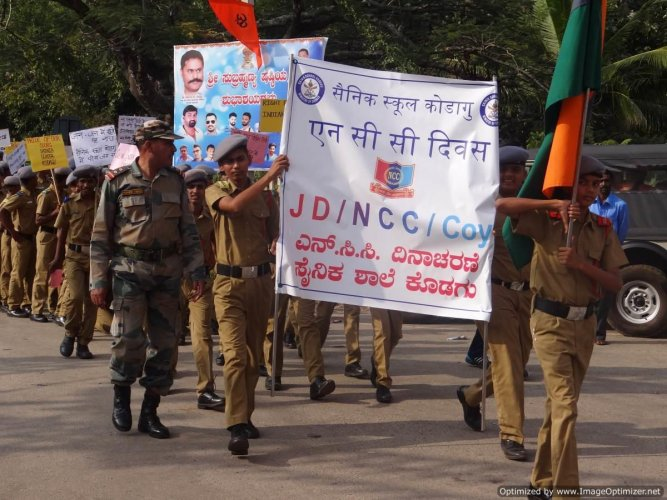 Sainik School celebrates NCC day, observes cleanliness drive